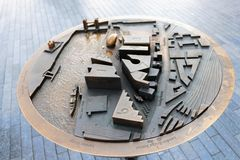 3D map London. 3D map of the south bank by city hall, close to Tower Bridge stock image