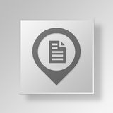 3D map pin Button Icon Concept Stock Photography