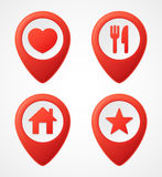 3d Map pointer icons. Map Markers set. Vector illustration Royalty Free Stock Photos