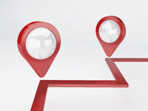 3d map pointer. travel and navigation concept Royalty Free Stock Images