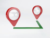 3d map pointer. travel and navigation concept Royalty Free Stock Photos