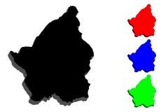 3D map of San Marino. Republic of San Marino - black, red, blue and green - vector illustration vector illustration