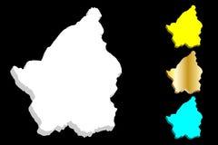 3D map of San Marino. Republic of San Marino - white, yellow, blue and gold - vector illustration stock illustration