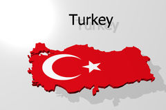 A 3d map of Turkey Royalty Free Stock Photos