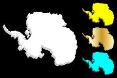 3D mapa Antarctica royalty ilustracja