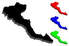 3D mapa Corfu Zdjęcie Royalty Free