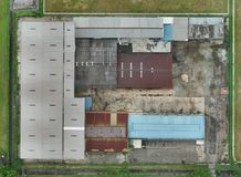 2D mapa da fábrica abandonada em Kuala Lumpur, Malásia Foto de Stock