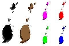 3D mapa Grenada Fotografia Stock