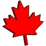3D Maple Leaf. Cartoon illustration of a 3D Maple Leaf Royalty Free Stock Photos