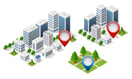 3d mapy isometric miasto royalty ilustracja