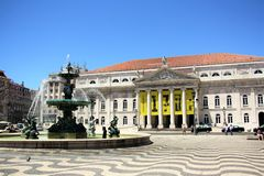 D. Maria II National Theatre in Lisbon, Portugal Royalty Free Stock Image