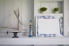 3d - maritieme decoratie - geschotene 01 Stock Foto
