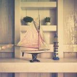 3d - maritieme decoratie - geschotene 02 - retro stijl Stock Fotografie