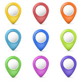 3d marker button set Royalty Free Stock Photo