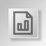 3D Marketing File Button Icon Concept. 3D Symbol Gray Square Marketing File Button Icon Concept Stock Images