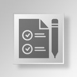 3D Marketing File Button Icon Concept. 3D Symbol Gray Square Marketing File Button Icon Concept Royalty Free Stock Photography