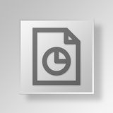 3D Marketing File Button Icon Concept. 3D Symbol Gray Square Marketing File Button Icon Concept Royalty Free Stock Photo