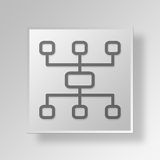 3D Marketing plan icon Business Concept Stock Image