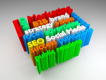 3D Marketing word cloud. Colorful 3D Marketing word cloud Stock Photos