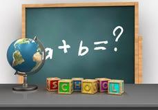 3d marque avec des lettres des cubes illustration libre de droits