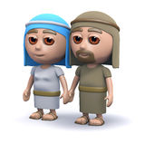 3d Mary and Joseph Stock Images