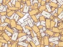 3d mass of letters and envelopes. 3d illustration of lot of letters and envelopes Stock Photography