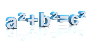 3d mathematical equation Royalty Free Stock Images