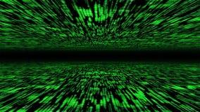 3d matrijs - vliegend door geactiveerde cyberspace Royalty-vrije Stock Afbeelding