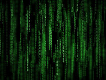 3D Matrix Background. Abstract green binary code poster Royalty Free Stock Photo