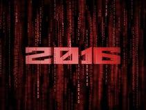 3D 2016 Matrix Background Royalty Free Stock Photo
