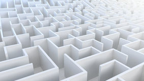 3D Maze in aerial view. Stock Photo