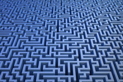3D maze background Stock Images