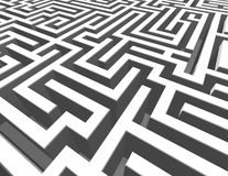 3d maze background, labyrinth render illustration. Stock Photos