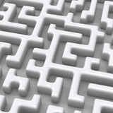 3d maze close up Stock Images