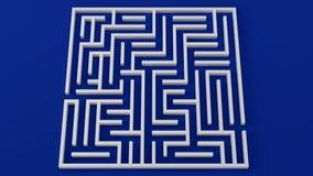 Strategy problem decisions 3D illustration complicated maze stock illustration