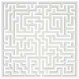 3D Maze. Labyrinth shape design element. One entrance, one exit and one right way to go. But many paths to deadlock. Unique design element abstract render maze Royalty Free Stock Photos