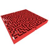 3D Maze. Labyrinth shape design element. Royalty Free Stock Photo