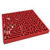 3D Maze. Labyrinth shape design element. One entrance, one exit and one right way to go. But many paths to deadlock. Unique design element abstract render maze Stock Photography