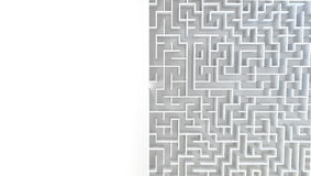3D Maze in top view. Stock Photos