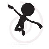 3d mężczyzna latanie z rękami otwiera Fotografia Royalty Free