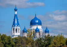 Dôme bleu de St orthodoxe Basil Cathedral, Gatchina, Russie Photos libres de droits