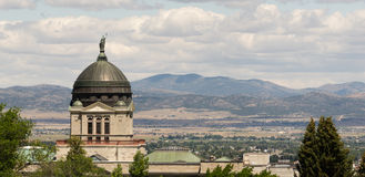 Dôme capital Helena Montana State Building de vue panoramique images libres de droits