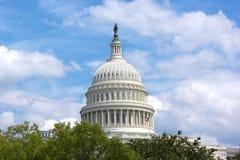 Dôme de bâtiment de capitol des USA, Washington DC Image libre de droits