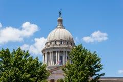 Dôme de capitale de l'État de l'Oklahoma Image libre de droits