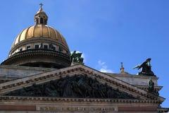 Dôme de cathédrale de St Isaac Images libres de droits