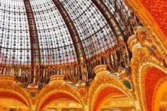 Dôme de galerie Lafayette Photographie stock libre de droits