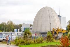 Dôme de Garching de réacteur pour recherches scientifiques  Photographie stock libre de droits