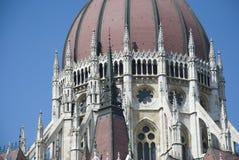 Dôme de Hongrois Parlament, Budapest Photos stock