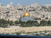 Dôme de Jérusalem de la roche Image stock