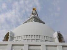 Dôme de la pagoda de paix du monde de Lumbini Photographie stock libre de droits